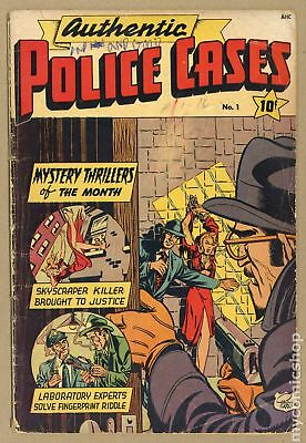 Authentic Police Cases (1948) #1 GD- 1.8