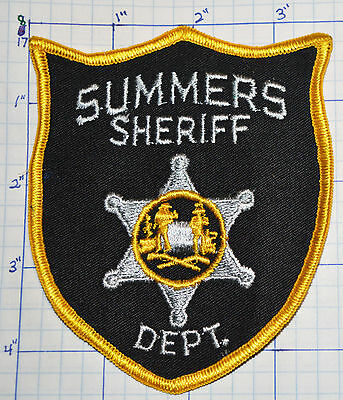 West Virginia, Summers County Sheriff Dept Patch