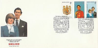 (70778) Belize FDC Princess Diana Wedding 16 July 1981
