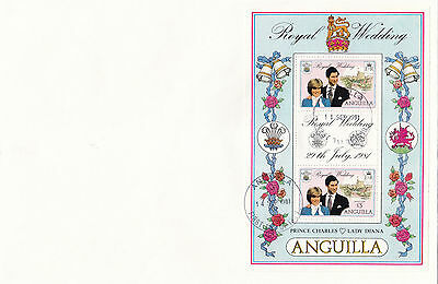 (70790) Anguilla FDC Princess Diana Death 14 September 1981