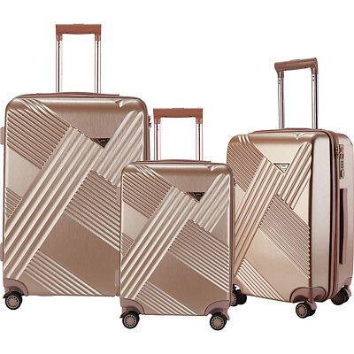 Travelers Club Luggage Percey 3 Piece Hardside Spinner Luggage Set NEW