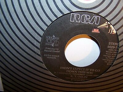 K. T. Oslin - Didn't Expect It To Go Down This way / Round The Clock Lovin'  45
