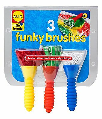 NEW ALEX LITTLE HANDS 3 Funky Jumbo Brushes - painting children educational fun
