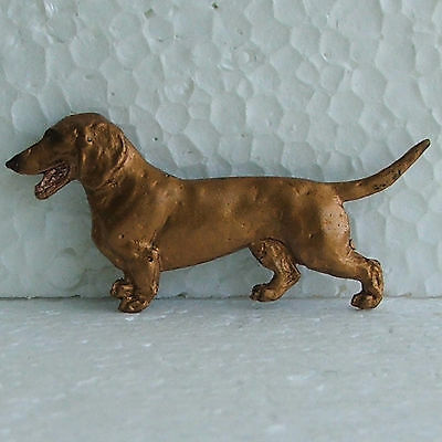 Dachshund Smooth Coat Red Resin Brooch Dog Breed Jewellery Handpainted