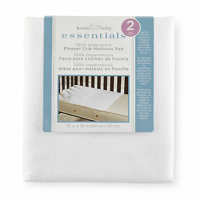 Koala Baby Essentials 2 Pack 100% Cotton Flannel Waterproof Crib and Toddler Mat