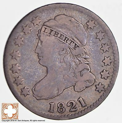 1821 Capped Bust Dime LD *2646