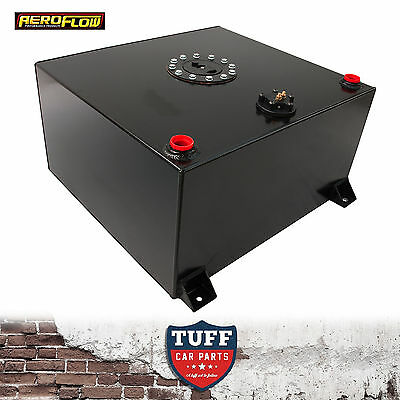 Aeroflow 15 Gallon Anodized Black Baffled Fuel Cell with Sump AF85-2150ASBLK New