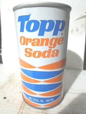 Topp Orange Straight Sided Steel Soda Can / Pop Can