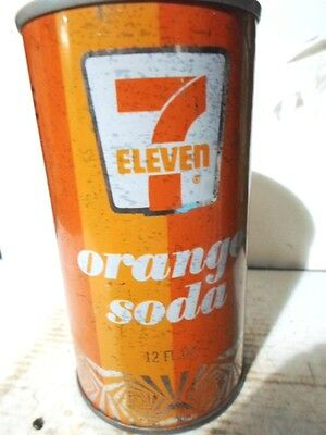 Seven - Eleven 7/11 Orange Straight Sided Steel Soda Can / Pop Can