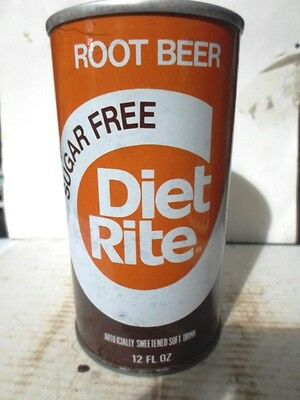 Diet-Rite Sugar Free Root Beer Straight Sided Steel Soda Can / Pop Can