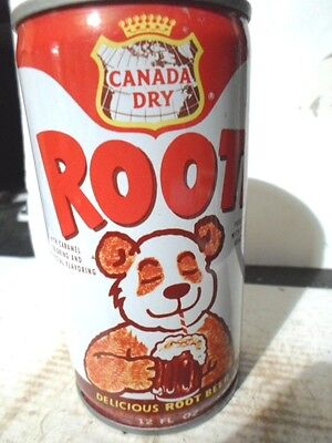 Canada Dry Rooti Root Beer Steel Soda Can / Pop Can