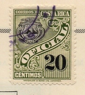 Costa Rica 1926-27 Early Official Issue Fine Used 20c. 168118