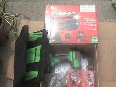 Snap on 18v monster lithium cordless green impact wrench kit 3/8 drive CT8810AG