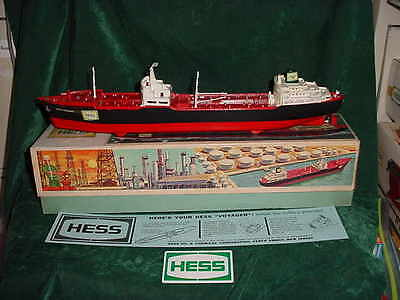 1966 Collectible Christmas Xmas Hess Voyager Ship Boat 1966 Tanker Truck Toys