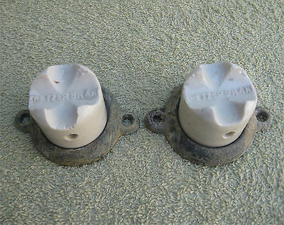 Pair of Kretzer Lightning Rod Insulators with Retaining Rings