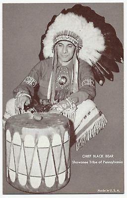 Chief Black Bear, Shawnee - Native American Indian - Arcade Card