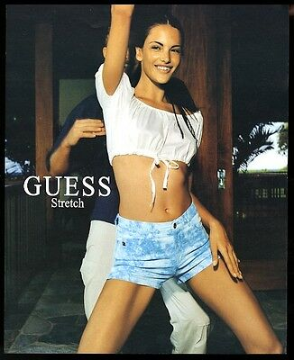 2000 Guess Stretch shorts Alessandra Ambrosio photo vintage print ad