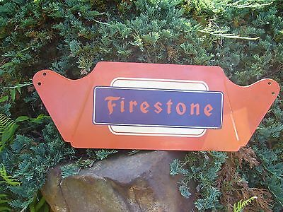RARE 1950s FIRESTONE TIRES DISPLAY RACK SIGN....L@@K! No Reproduction NOS