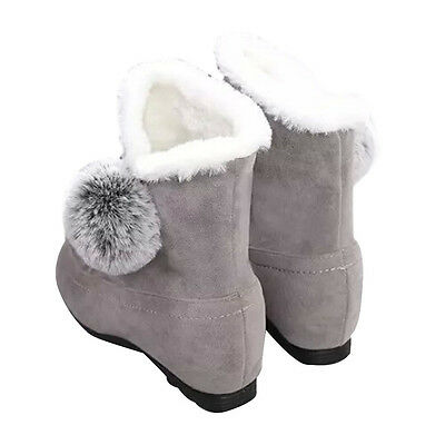 Women Fashion Ankle Boots Flats Casual Shoes Warm Suede Shoes Comfortable GY 37