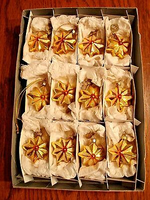 Old World Christmas Gold Stars Ornaments Box of 12