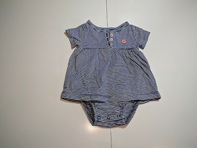 Carters Newborn Infant Baby Girl Striped Creeper Bodysuit Dress 3 Months