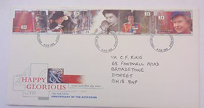 GREAT BRITAIN FIRST DAY COVER 40th ANNIVERSARY OF THE ACCESSION 1992