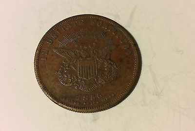 1856 New York City Hall Copper Medal 33.6mm In Unitate Fortitudo Compos Spiel