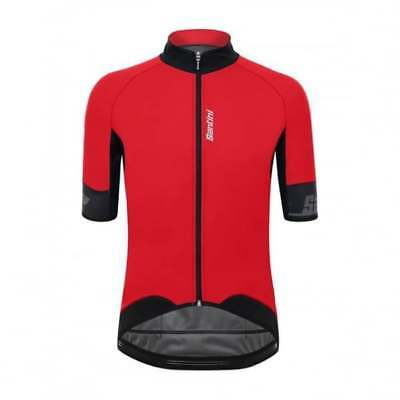 Santini Beta 2.0 Short Sleeve Wind Mens Cycle Cycling Jersey - Red
