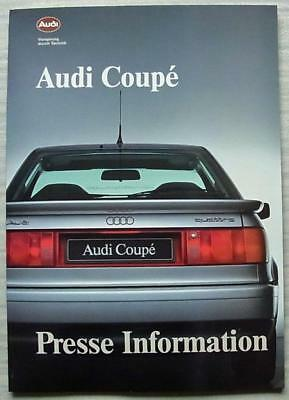 AUDI COUPE Car Press Information Media Kit Pack Photos October 1988