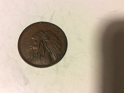 Vintage Wannamaker Originators Porte The Winner Bonheur Indian Head Token Coin