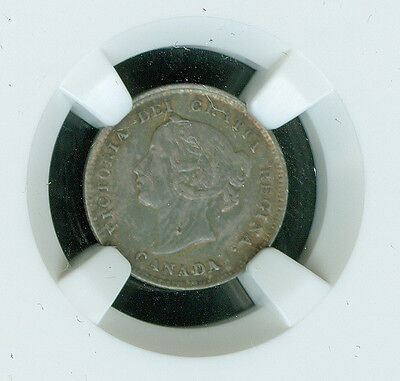 1896 Canada 5 Cents Ngc Xf-45 Detail  2000762-007 *