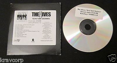 The Hives 'Veni Vidi Vicious' 2000 Advance Cd