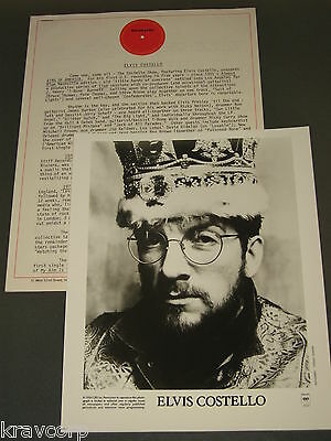 Elvis Costello 'King Of America' 1986 Press Kit—Photo