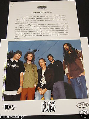 Incubus 'A Crow Left Of The Murder' 2003 Press Kit--Photo