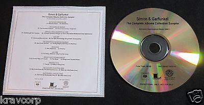 Simon & Garfunkel 'Albums Collection' 2014 Promo Sampler Cd