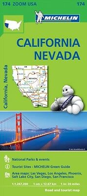 California - Névada Zoom Map 174 (Michelin Zoom Maps) (Map), 9782067190511