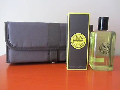 Crabtree & Evelyn - WEST INDIAN LIME - Shave Cream & Hair & Body Wash & Bag NEW