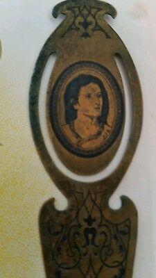 Victorian Lady metal  BOOKMARK book mark