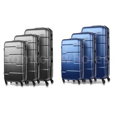 3Pcs Luggage Travel Set Bag ABS+PC Trolley Spinner Suitcase W/TSA Lock Hot H0O4