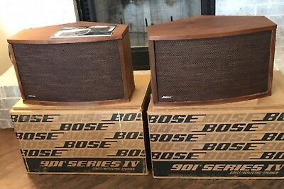 Bose 901 Series IV Speakers Walnut With Original Boxes And Manual NO EQ STANDS