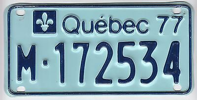 1977 Quebec Canada Motorcycle License Plate M -172534 Moto Motocyclette Bike