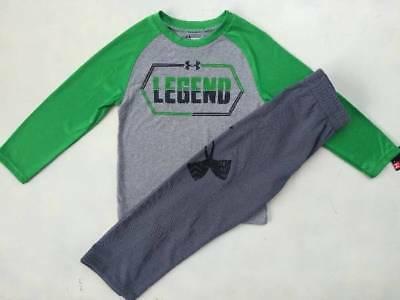 "Boy's Size 4 Under Armour ""legend"" Shirt & Gray Pants Outfit Bts Nwt"