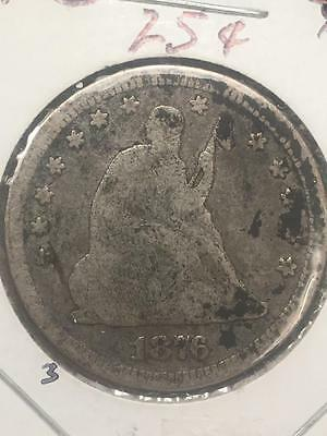 1876 Seated Liberty Quarter Coin