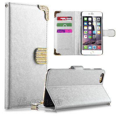 """Luxury Wallet PU Leather Stand Case Cover for Apple iPhone 6S/6 4.7"""" White"""