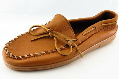 Minnetonka Moccasin Slippers Brown Leather Men Shoes Size 11.5 Medium