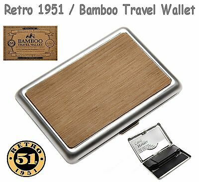 Retro 1951 BAMBOO Inlay Travel Wallet / #CC-521