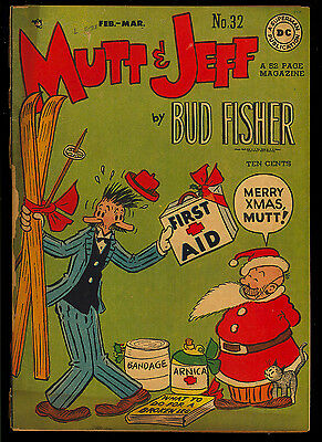 Mutt and Jeff #32-33, 36-37 Golden Age GROUP (4 Comics) DC 1948 FR to VG-