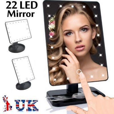 10X Magnifying 22 LED Makeup Cosmetic Vanity Light up Mirror Large Touch Screen