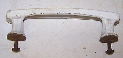 Antique Vintage Cast Iron White Porcelain HANDLE