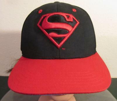 Superman Cotton Baseball Cap Adult One Size VGC